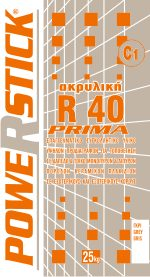 ACRYLIC TILE ADHESIVE PRIMA R40 ( C1T )